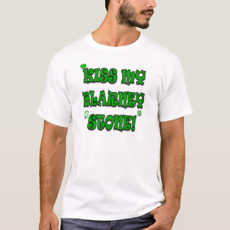 Beije minha camisa irlandesa do humor da pedra de