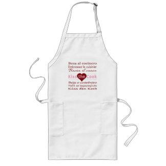 Beije o cozinheiro no avental de 7 línguas