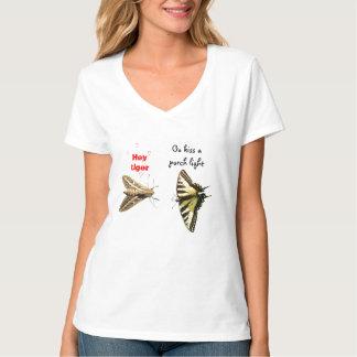 Beije uma luz do patamar camiseta