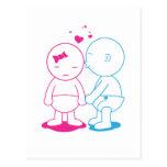 Beijo de Babycakes Cartão Postal