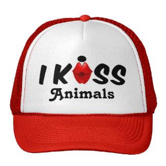 Beijo do chapéu eu beijo animais boné