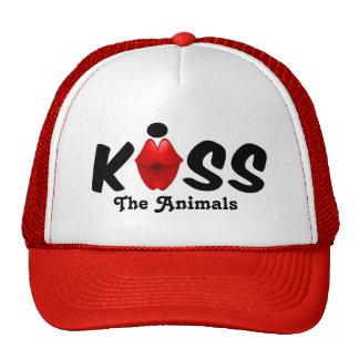 Beijo do chapéu os animais boné