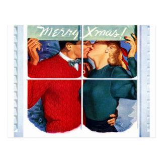 Beijo do Natal Cartão Postal