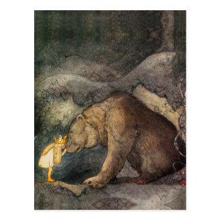 Beijo do urso cartão postal