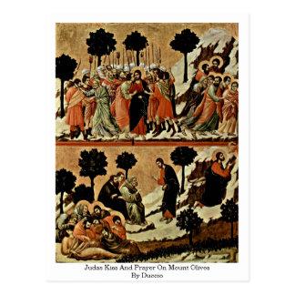 Beijo e oração de Judas em azeitonas da montagem Cartão Postal