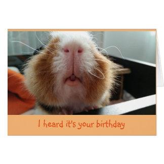 Beijos de Piggie e cartão de aniversário