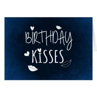 Beijos do aniversário: Cartão do feliz aniversario