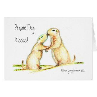 Beijos do cão de pradaria! Cartão
