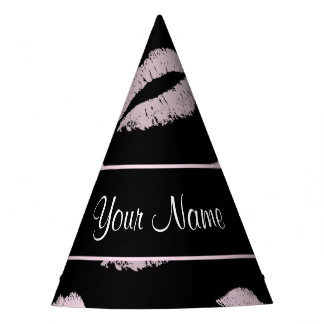 Beijos do preto e do rosa chapéu de festa