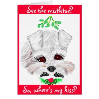 Beijos do visco cartão