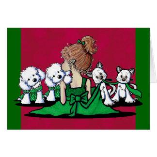 Beijos & risos malteses & cartão de Natal dos