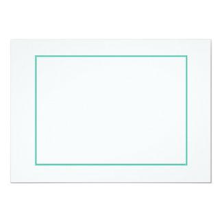 Beira azul da sombra do Aqua no branco Convite 12.7 X 17.78cm
