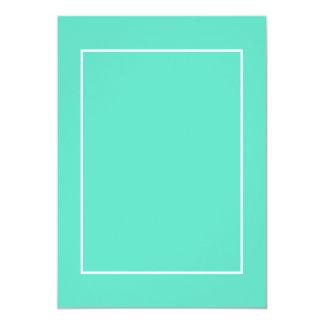 Beira branca no azul do Aqua Convite 12.7 X 17.78cm