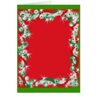 Beira da festão do Natal Cartão