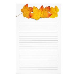 Beira da folha de bordo da queda, papel de carta papelaria