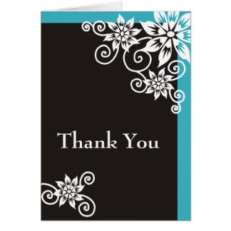 Beira do Aqua: : Obrigado do desenhista você cartõ Cartão Comemorativo