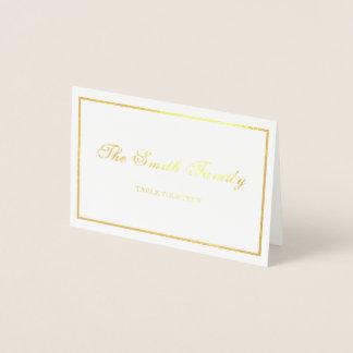 Beira do cartão do lugar do casamento