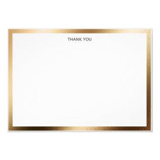 Beira do ouro dos cartões de agradecimentos