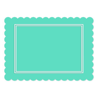 Beira dobro branca da sombra no azul do Aqua Convite 12.7 X 17.78cm