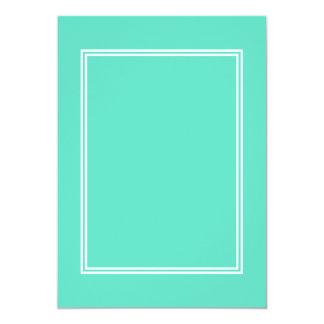 Beira dobro branca no azul do Aqua Convite 12.7 X 17.78cm