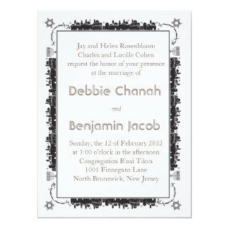 Beira elegante de Jerusalem - convite judaico
