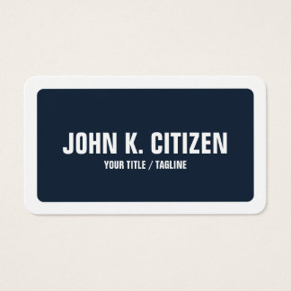Beira larga arredondada do texto corajoso azul & cartão de visitas
