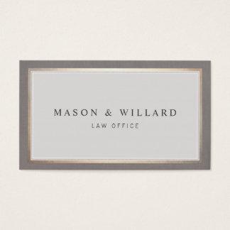 Beira profissional elegante do ouro do advogado cartão de visitas