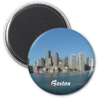 Beira-rio de Boston Ímã Redondo 5.08cm