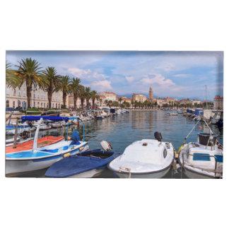 Beira-rio de Riva, separação, Croatia Suportes Para Cartões De Mesas