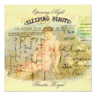 Bela Adormecida Convite Quadrado 13.35 X 13.35cm