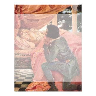 Bela Adormecida do vintage por Jessie Willcox Modelo De Panfletos