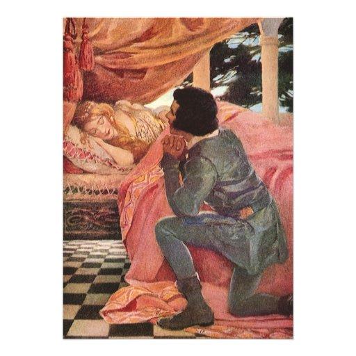 Bela Adormecida do vintage por Jessie Willcox Smit Convites Personalizado
