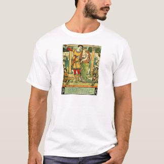 Bela Adormecida romântica antiga do guindaste de T-shirts