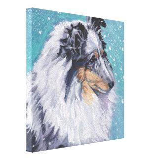 Belas artes bonitas do Sheepdog de Sheltie Impressão Em Tela