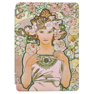 Belas artes cor-de-rosa de Alphonse Mucha do Capa Para iPad Air