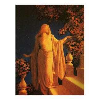 Belas artes de Cinderella Maxfield Parrish Cartão Postal