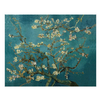 Belas artes de florescência do vintage da árvore d pôsteres