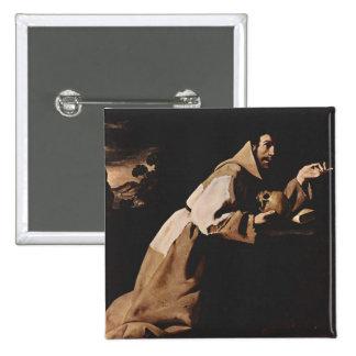 Belas artes de Francisco de Zurbarán Bóton Quadrado 5.08cm