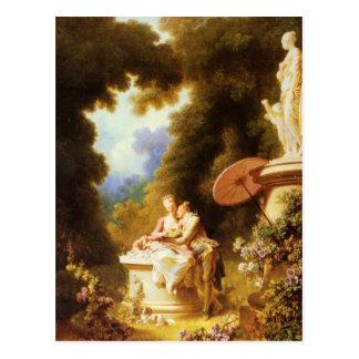 Belas artes de Jean-Honoré Fragonard Cartão Postal