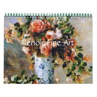 Belas artes de Renoir Calendário