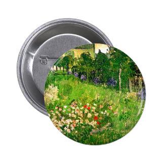 Belas artes de Van Gogh do jardim de Daubigny Bóton Redondo 5.08cm