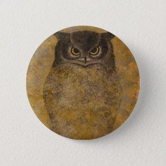 Belas artes do japonês da coruja bóton redondo 5.08cm