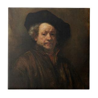 Belas artes do retrato de auto de Rembrandt Van