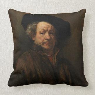 Belas artes do retrato de auto de Rembrandt Van Almofada