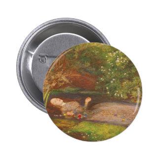 Belas artes do Victorian do vintage, Ophelia por Bóton Redondo 5.08cm