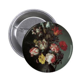 Belas artes florais com as íris das tulipas dos ro bóton redondo 5.08cm