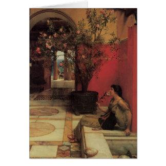 Belas artes florais com Oleander Cartão Comemorativo