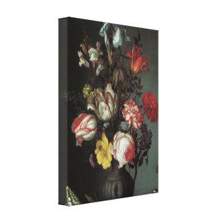 Belas artes florais com rosas, envoltório das