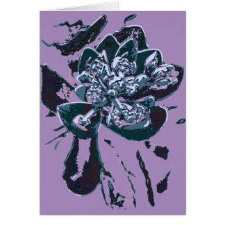 Belas artes florais do cartão de nota da arte abst