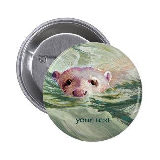 Belas artes gigantes da lontra de rio bóton redondo 5.08cm